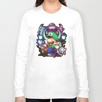 haunted mansion Long Sleeve T-shirts featuring Luigi's Mansion Badge by Tiffa Cakes