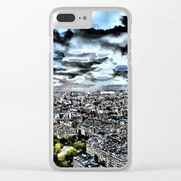 Paris - Blick vom Eiffelturm 1 Clear iPhone Case