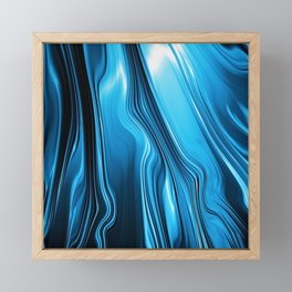 Streaming Deep Blues Framed Mini Art Print