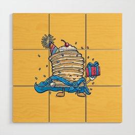 Captain Birthday Pancake Wood Wall Art