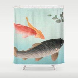 Golden Carp Shower Curtain