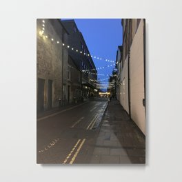 Down the alley at dawn Metal Print