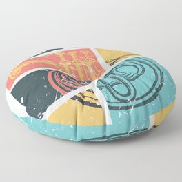 French Horn Retro Funny print French Horn Player Gift Floor Pillow