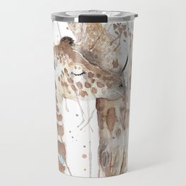 """Watercolor Painting of Picture """"Mother and Son"""" Travel Mug"""