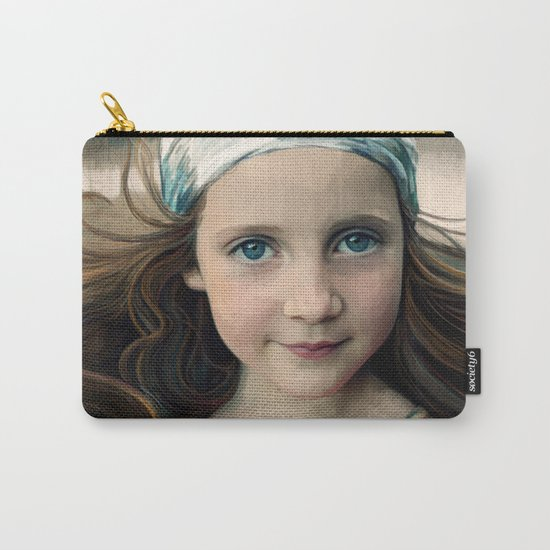 Dancer at Dusk - portrait painting of a young girl Carry-All Pouch