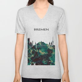 Bremen Skyline Unisex V-Neck