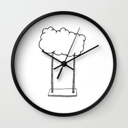 Cloud Swing Wall Clock