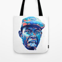 tyler the creator Tote Bags featuring TYLER THE CREATOR: NEXTGEN RAPPERS by mergedvisible