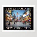 Times Square Sparkle (with type on black) by raywarrenphoto