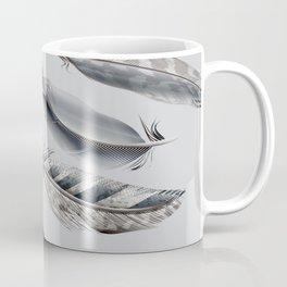Cosmic Feathers Silver Dust Coffee Mug