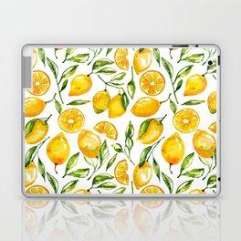 lemon watercolor print Laptop & iPad Skin