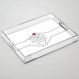 The Power of Love Acrylic Tray