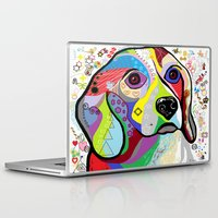 beagle Laptop & iPad Skins featuring BEAGLE by EloiseArt
