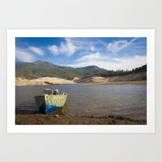 Boat At Water's Edge Art Print