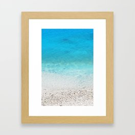 231. Blue Water, Greece Framed Art Print