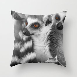 #Funny #Animals from #Madagascar Throw Pillow