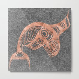 Copper Keét Smoke Metal Print