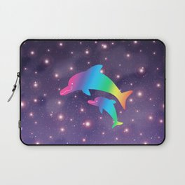 Parent-child of dolphin in Universe _04 Laptop Sleeve