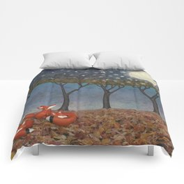 sleepy foxes Comforters