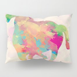 Abstract horse Pillow Sham