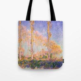 12,000pixel-500dpi - Claude Monet - Poplars - Digital Remastered Edition Tote Bag