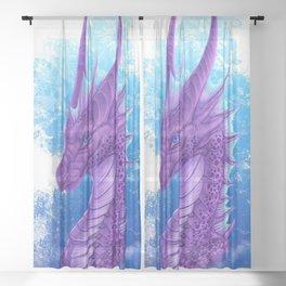 Purple Dragon Sheer Curtain