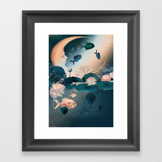 Lake sleeps Framed Art Print