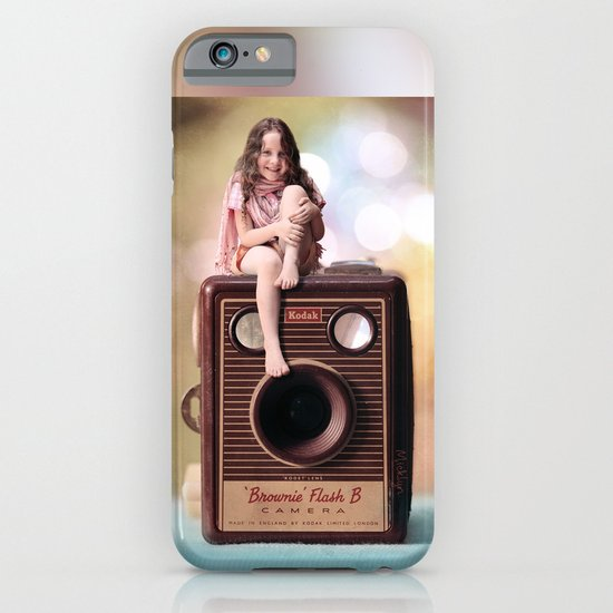 Smile for the Camera - vintage Kodak Brownie camera with miniature girl. iPhone & iPod Case