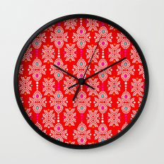 Stella in Red Pattern Wall Clock