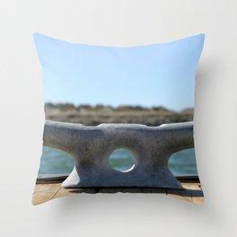 Dock Cleats Throw Pillow