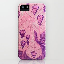 Candy Diamond Leaf iPhone Case