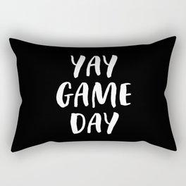 Yay Game Day Football Sports Team White Text Rectangular Pillow