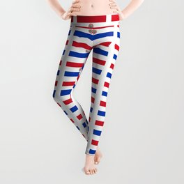 flag of paraguay 2 -paraguyan,asuncion,spanish, south america, latin america,pan flute,coffee,forest Leggings
