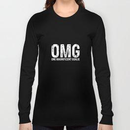 OMG One Magnificent Goalie Hockey Sports T-Shirt Long Sleeve T-shirt