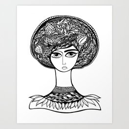 Queen Artichoke Art Print