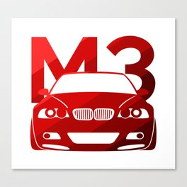 BMW E46 M3 - classic red - Canvas Print