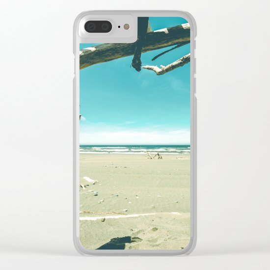 Drift Wood Castle Clear iPhone Case