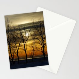 Sunset time Stationery Cards