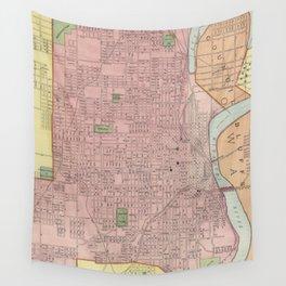 Vintage Map of Omaha Nebraska (1903) Wall Tapestry