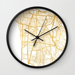 BEIRUT LEBANON CITY STREET MAP ART Wall Clock