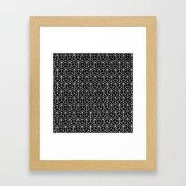 Hand Drawn Hypercube Black Framed Art Print