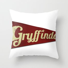 Gryffindor 1948 Vintage Pennant Throw Pillow