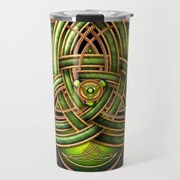Emerald Celtic Triquetra Knot Travel Mug