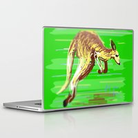 kangaroo Laptop & iPad Skins featuring Kangaroo by wingnang