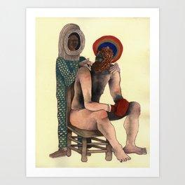 Seated Boxer Art Print
