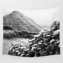 Black and white landscape Wall Tapestry
