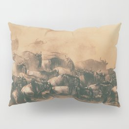 Wild Life in a Hurry Pillow Sham