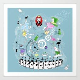 Wonderland teacups Art Print
