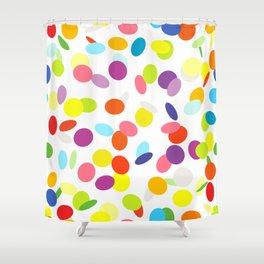 Flying сonfetti pattern Shower Curtain