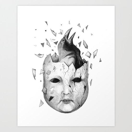i will take off my old skin  Art Print